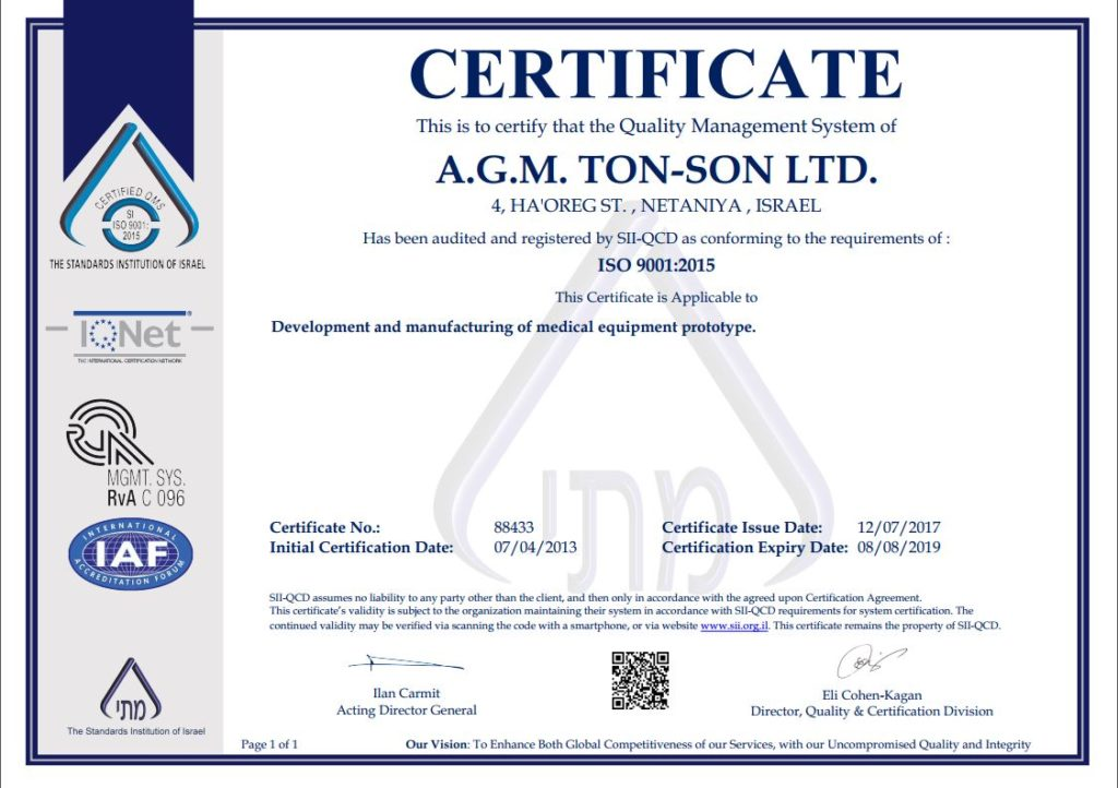 Tonson labs certified ISO9001